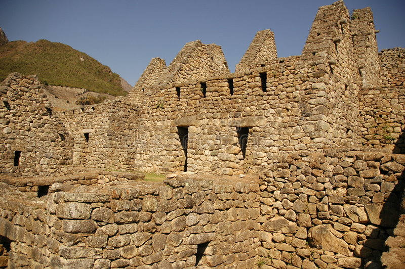 House Area From Machu Picchu Royalty Free Stock Photo