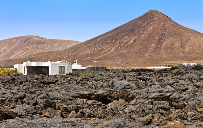 Download House In An Arid Landscape, Tahiche, Lanzarote Stock Image - Image: 26400053