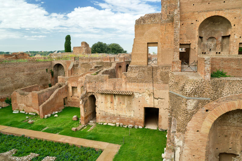 House of Augustus at the Palatine Hill in Rome. Italy stock photo