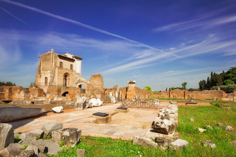 House of Augustus on the Palatine Hill in Rome. Italy stock photography