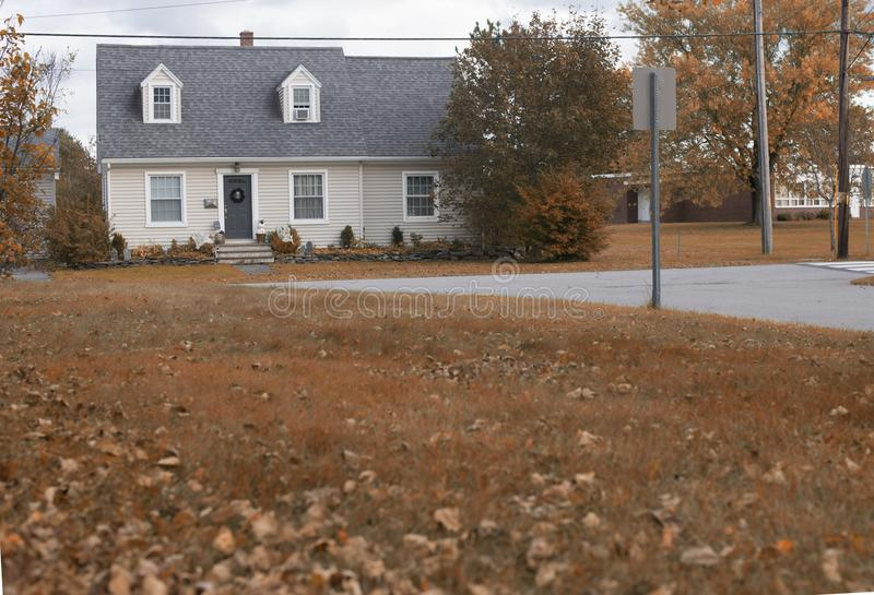 House in autumn stock photography