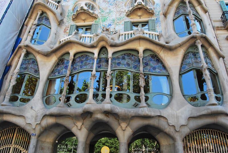 House Batllo. Casa Batllo in Barcelona by Antonio Gaudi royalty free stock photo
