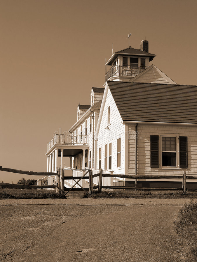 Download House On The Beach 2 In Sepia Stock Image - Image: 899851