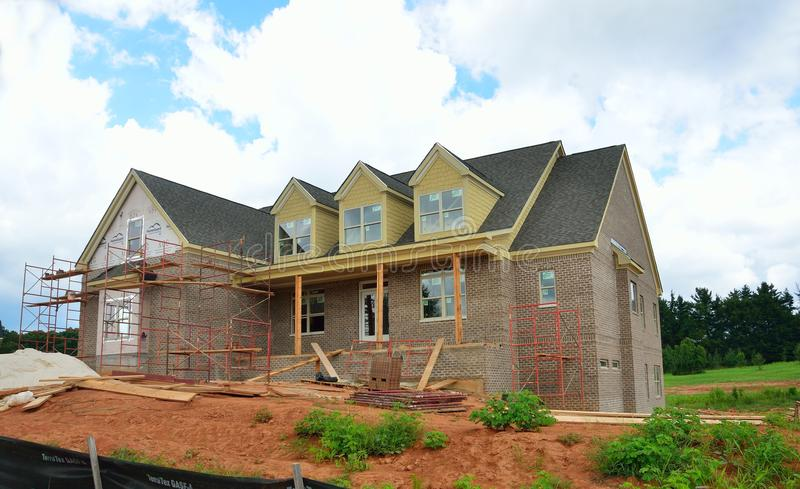 House being constructed. In Bogart, Georgia, USA stock image