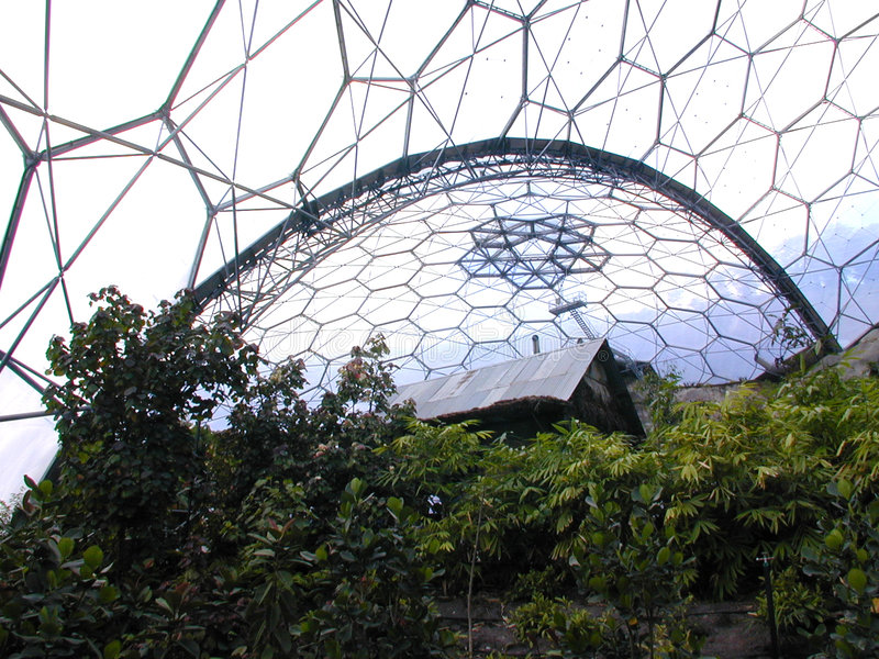 House in a Biome stock photo