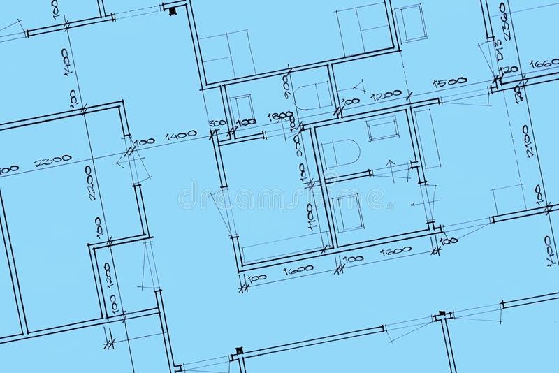 House Blue Prints Close Up royalty free stock photography