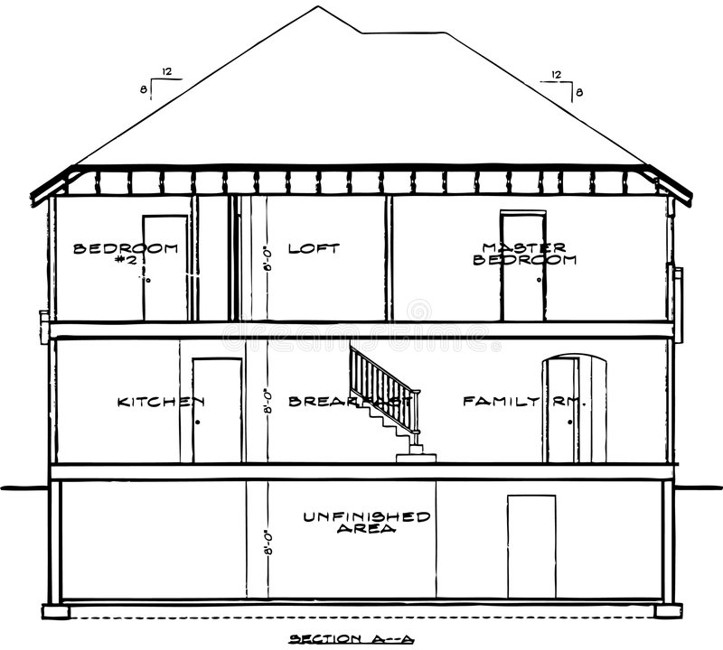 House blueprint stock vector illustration of house levels 4216793 a one color vector illustration of a three level house blueprint that has each room labeled malvernweather Images
