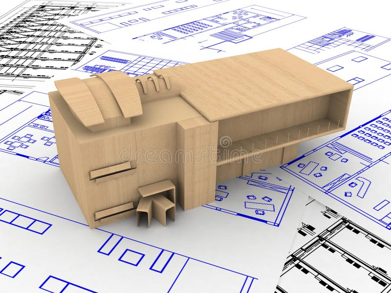 House blueprint stock photo