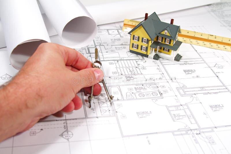 House Blueprints stock images