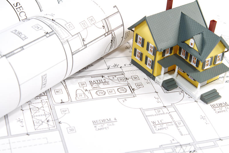 House Blueprints royalty free stock images