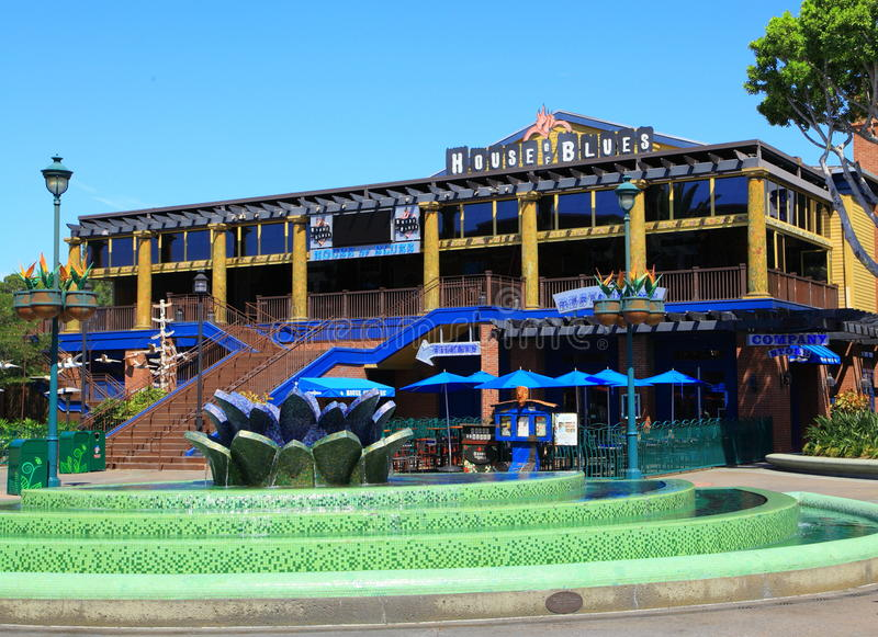House of Blues. The House of Blues restaurant and club at Downtown Disney Anaheim CA 9/8/2012 stock photography
