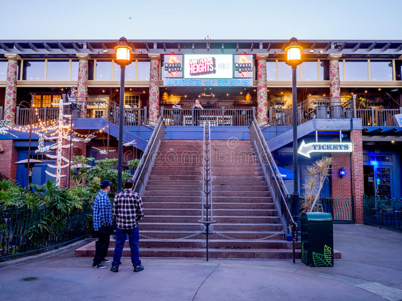 House of Blues bar at Downtown Disney stock photography