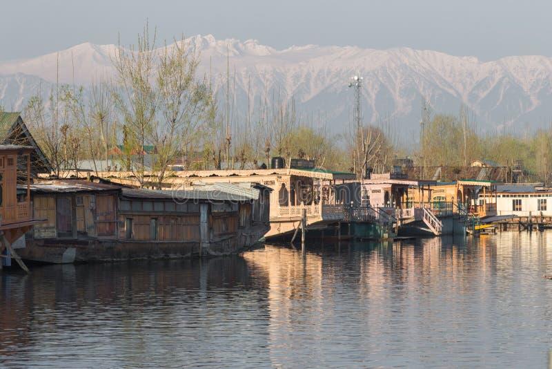 House boat. Dal Lake Kashmir, India royalty free stock photography
