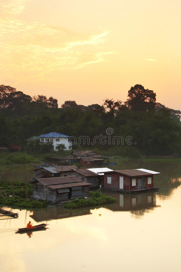 Download House and boat on river stock photo. Image of lake, asia - 39943218