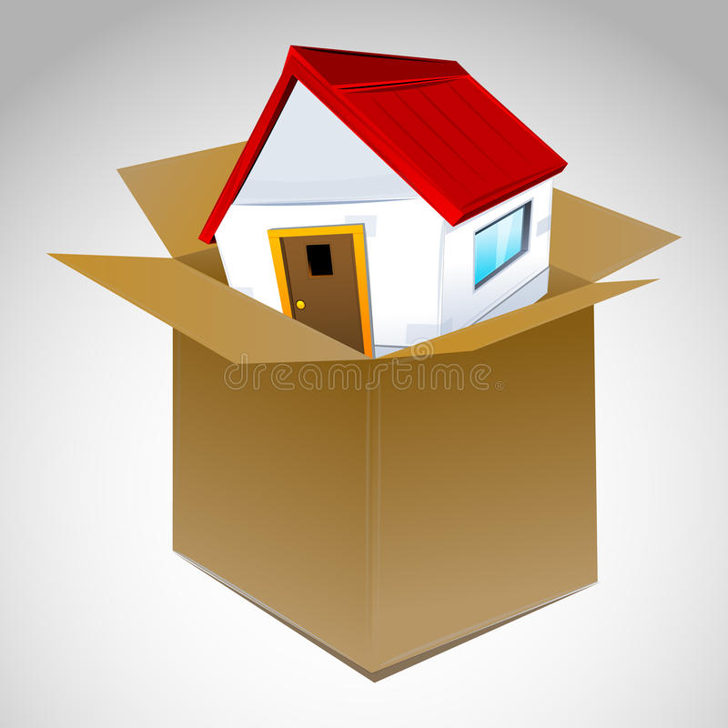 House in box vector illustration