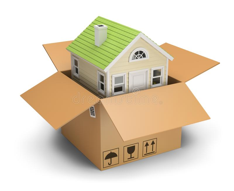 House in a box vector illustration