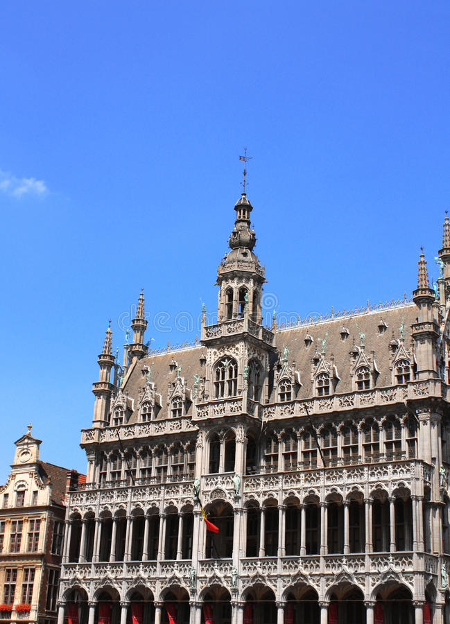 House of bread on Grand place in Brussel, Belgium. House of bread (King's House) on Grand place in Brussel, Belgium. UNESCO world heritage site stock photos