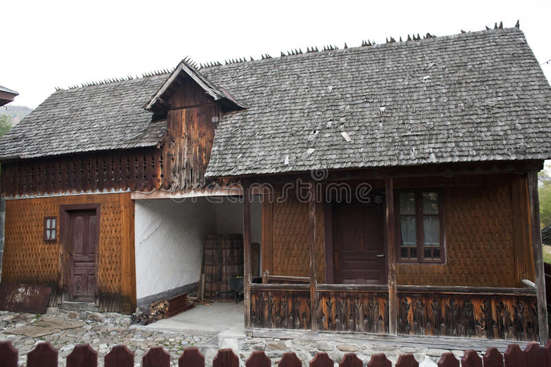 House from Breaza, Prahova, Romania. Wooden old house architecture from Breaza, Prahova, Romania royalty free stock image