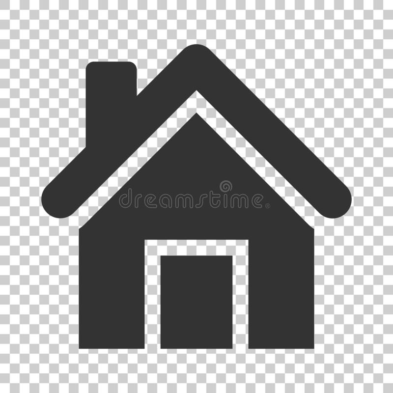 House building icon in flat style. Home apartment vector illustration on isolated background. House dwelling business concept. royalty free illustration