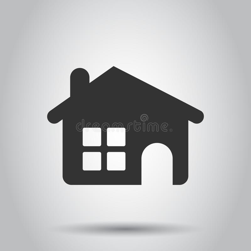 House building icon in flat style. Home apartment vector illustration on white background. House dwelling business concept.  vector illustration
