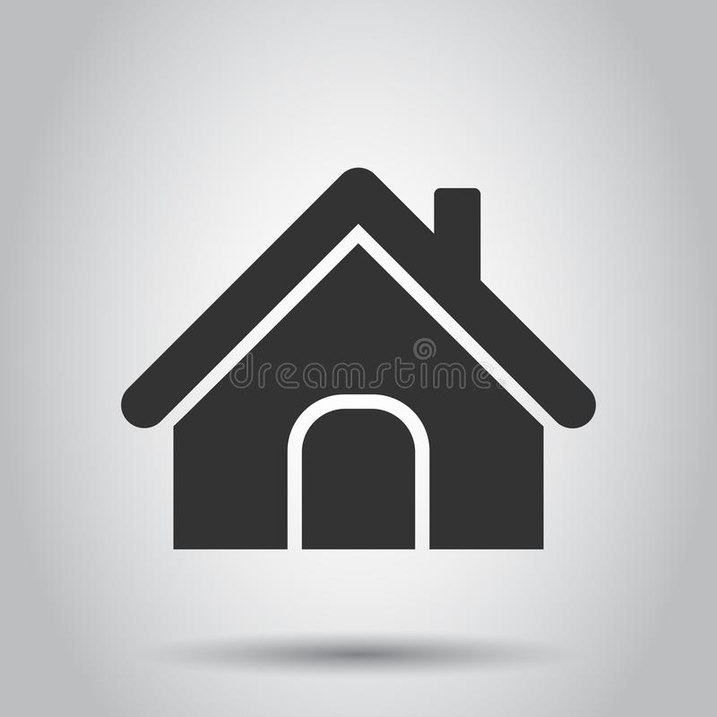 House building icon in flat style. Home apartment vector illustration on white background. House dwelling business concept.  royalty free illustration