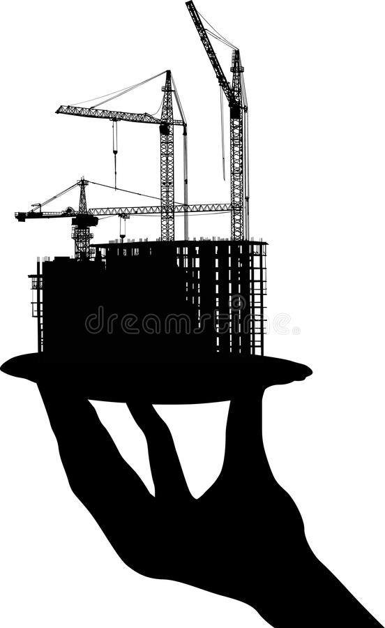 Free House Building On Plate In Human Hand Royalty Free Stock Photos - 15262358