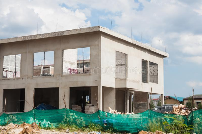 House building under construction stock photo image of for House building website