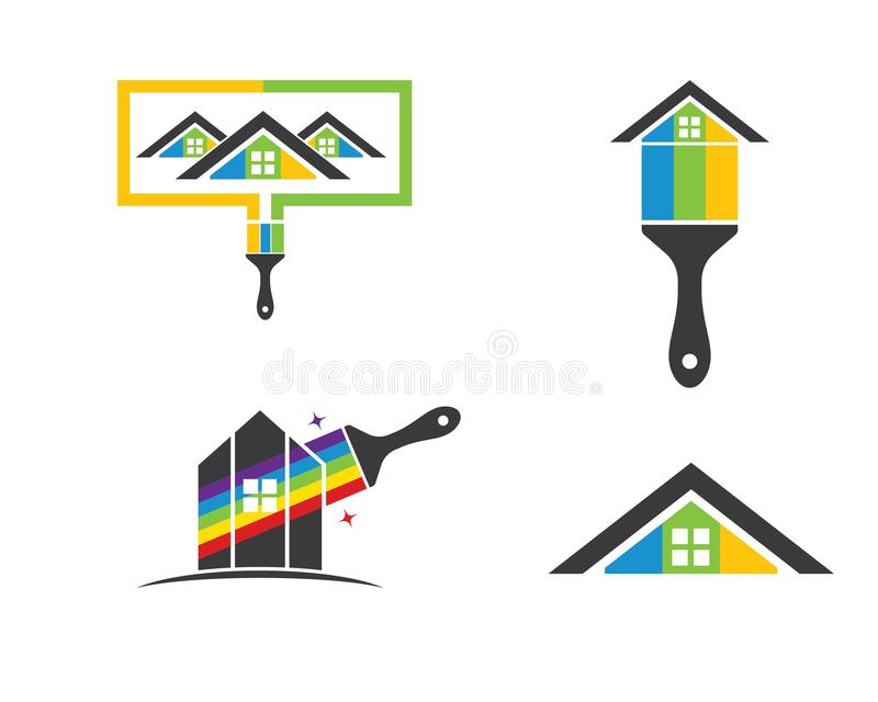 house,bulding paint logo icon vector illustration stock illustration