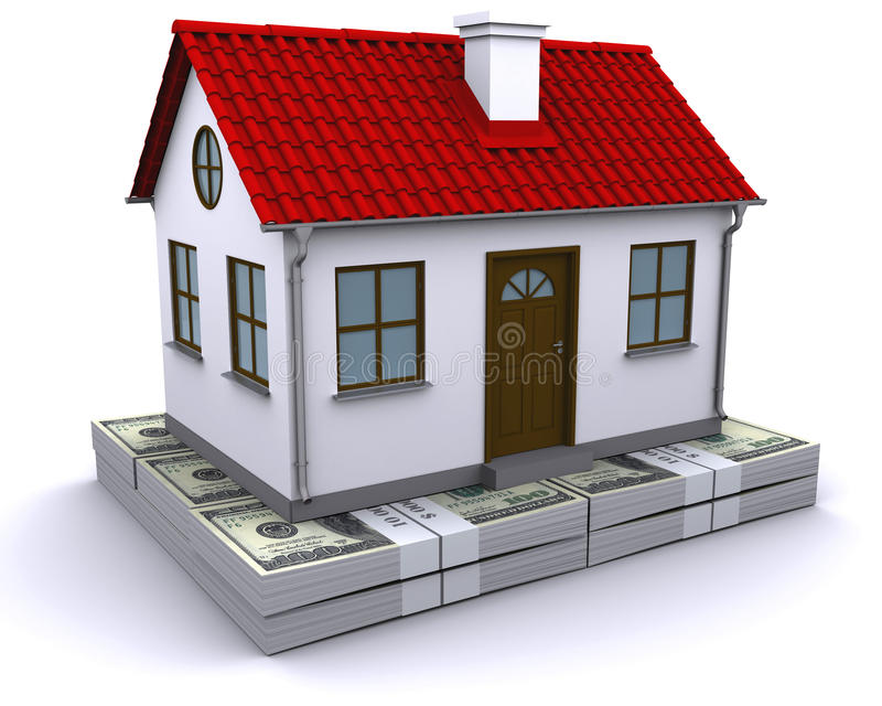 Download House On A Bundle Of Dollars Stock Photo - Image: 18177126