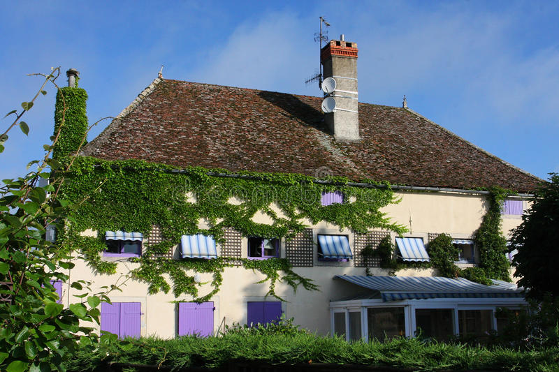 Download House in Burgundy stock photo. Image of saone, burgundy - 14858420