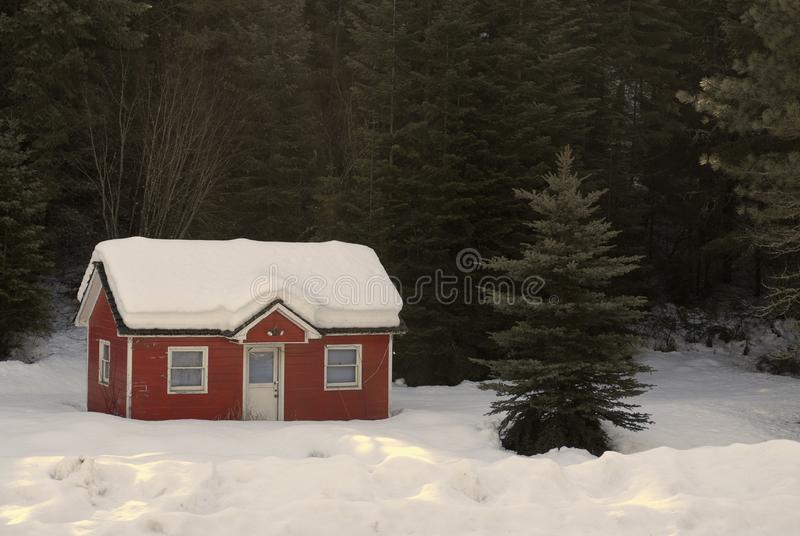 House Buried in Snow royalty free stock image
