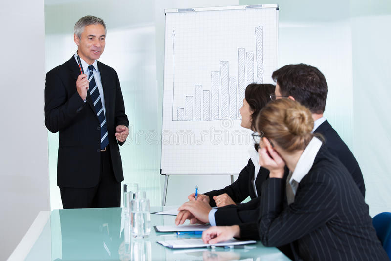 In-house business training royalty free stock photos