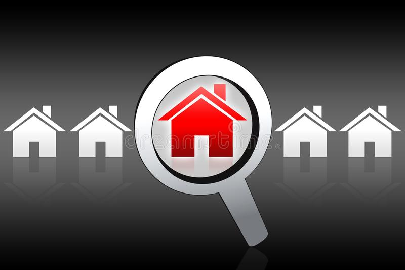 Download House Buying Searching Concept Stock Illustration - Illustration: 18922472