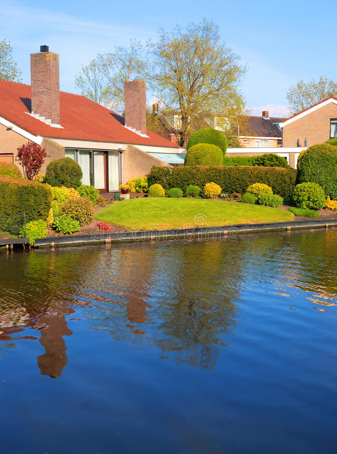 Download House by the Canal stock image. Image of canal, construction - 14964561