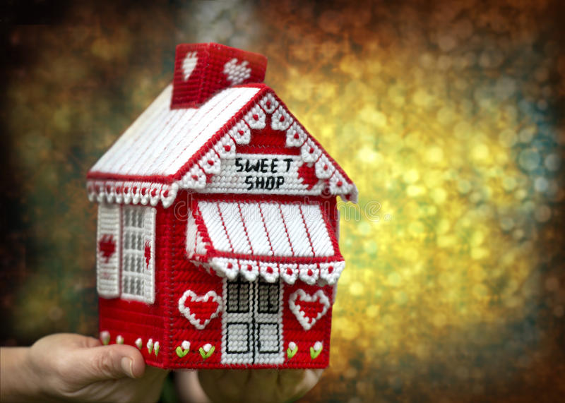 House candy for Christmas royalty free stock photography