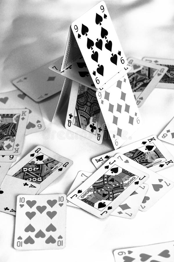 House of cards royalty free stock photo