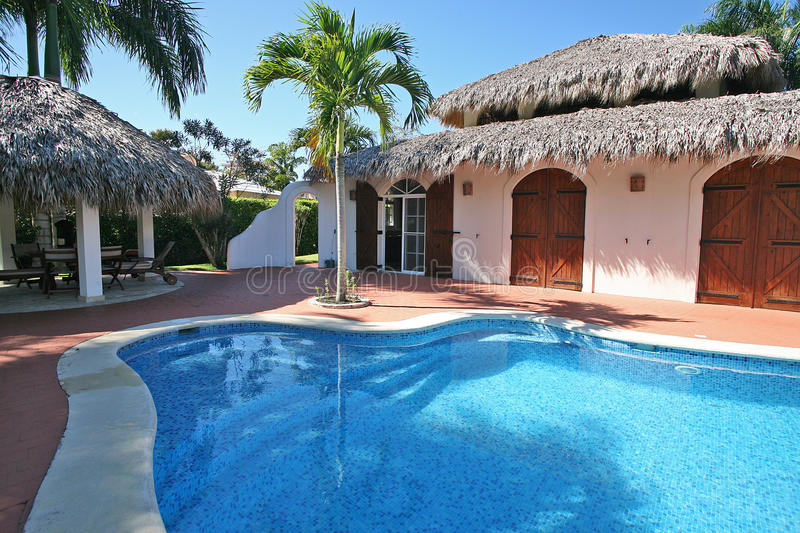 House in the Caribbean. stock photography