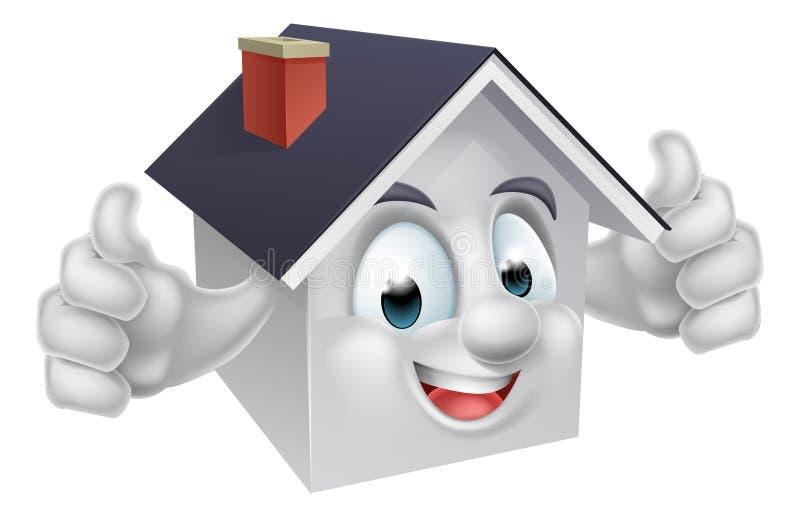 House Cartoon Character stock illustration