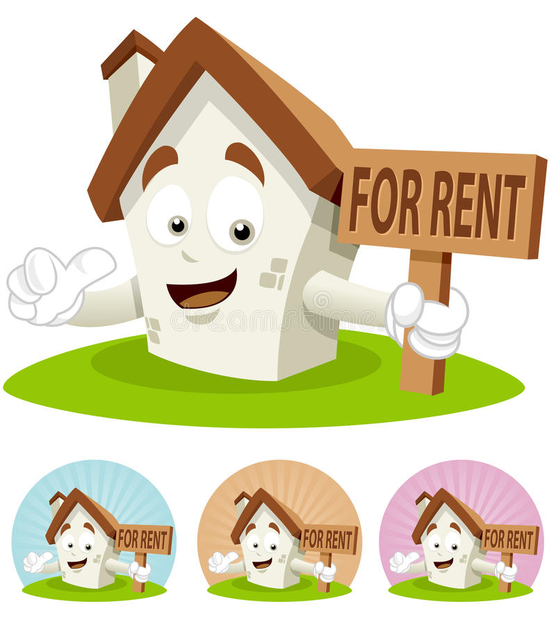 House For Rent Clip Art: For Rent Stock Photography