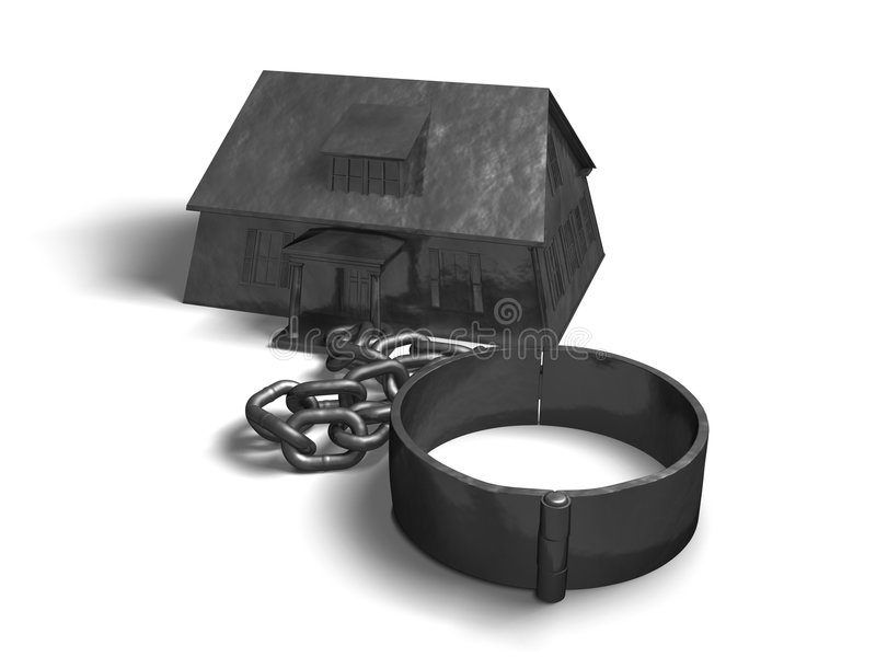 House And Chain Royalty Free Stock Image