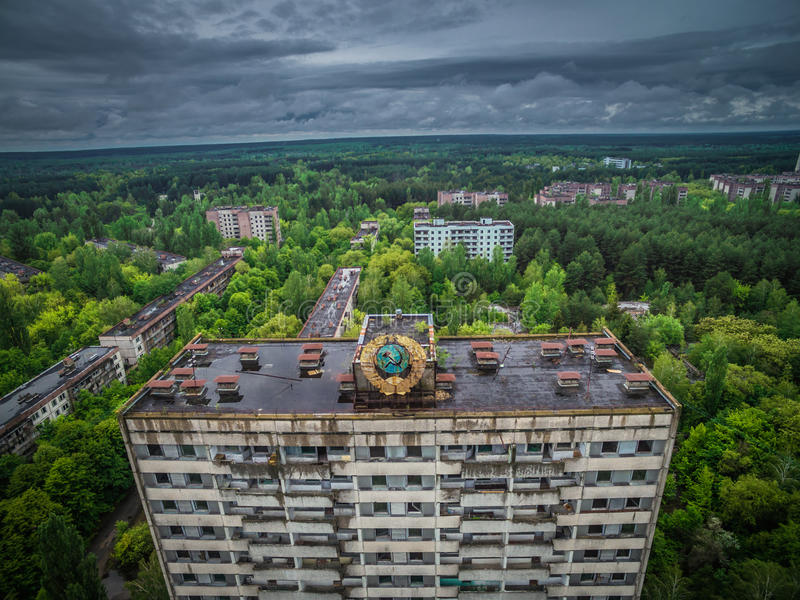 House in Chernobyl royalty free stock image