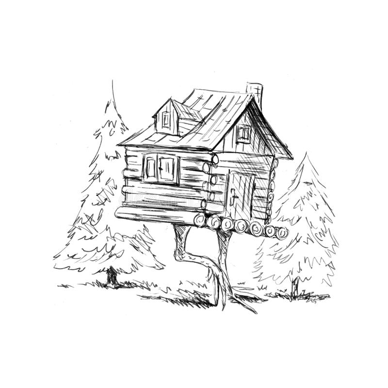 House on chicken legs royalty free stock photos