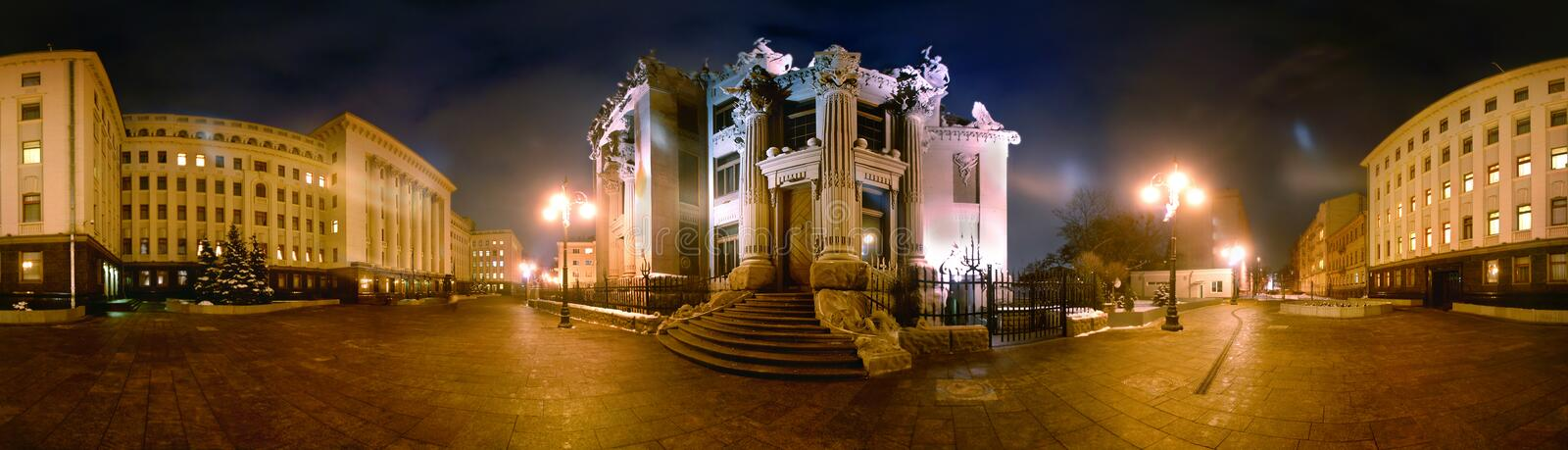 A house with chimeras. (ukr. Budinok by z chimeras) is brick building in style modern, located in the capital of Ukraine, Kiev. A house got the name due to royalty free stock images