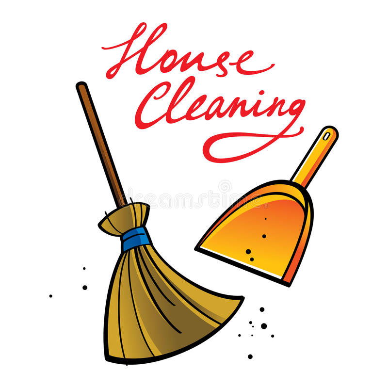 House Cleaning royalty free illustration