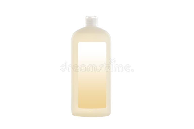 House cleaning product. Plastic bottle with dishwashing liquid soap isolated on white. Background royalty free stock photos