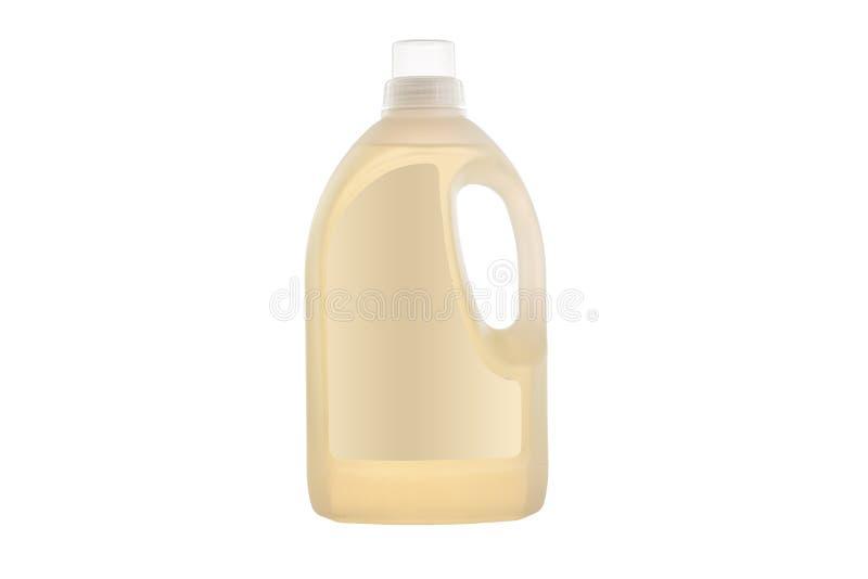 House cleaning product. Plastic bottle with dishwashing liquid soap isolated on white. Background stock photo