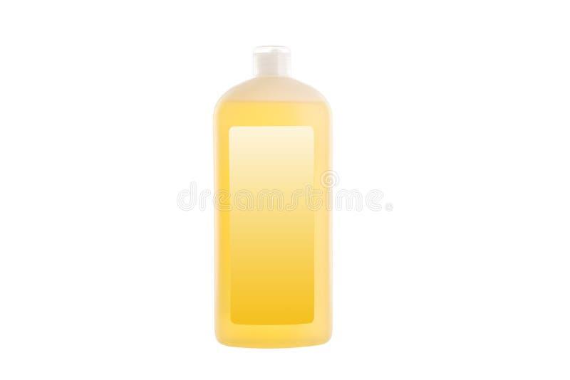 House cleaning product. Plastic bottle with dishwashing liquid soap isolated on white. Background royalty free stock photography