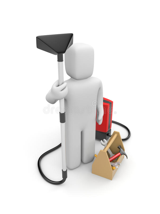 House cleaning and repair service vector illustration