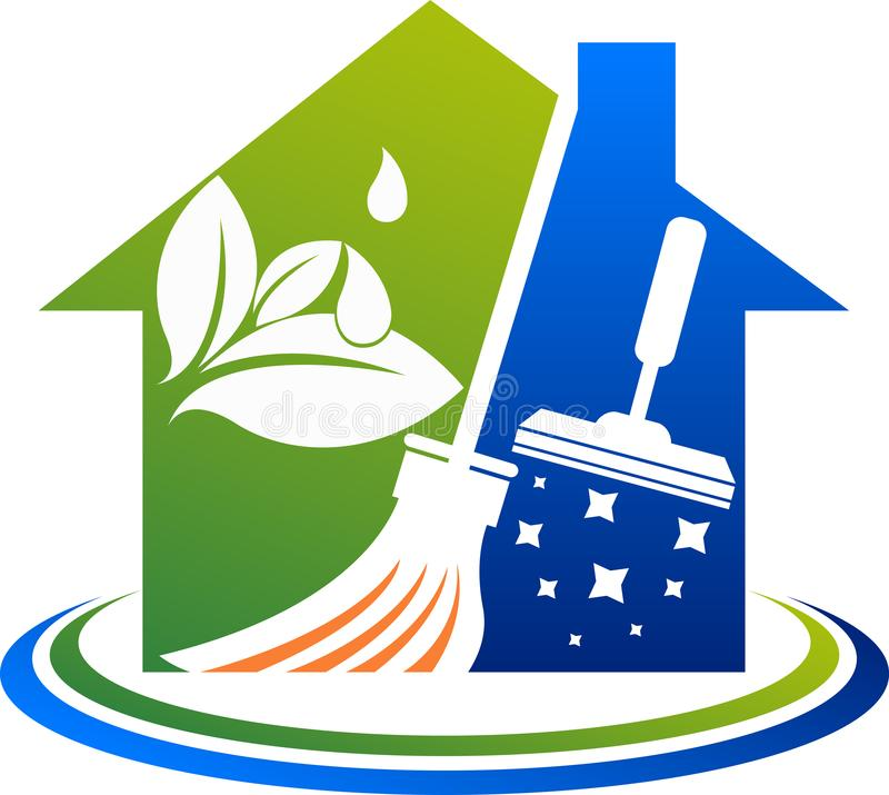 House cleaning service logo royalty free illustration