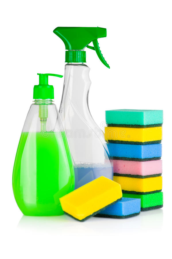House Cleaning Supplies Royalty Free Stock Images